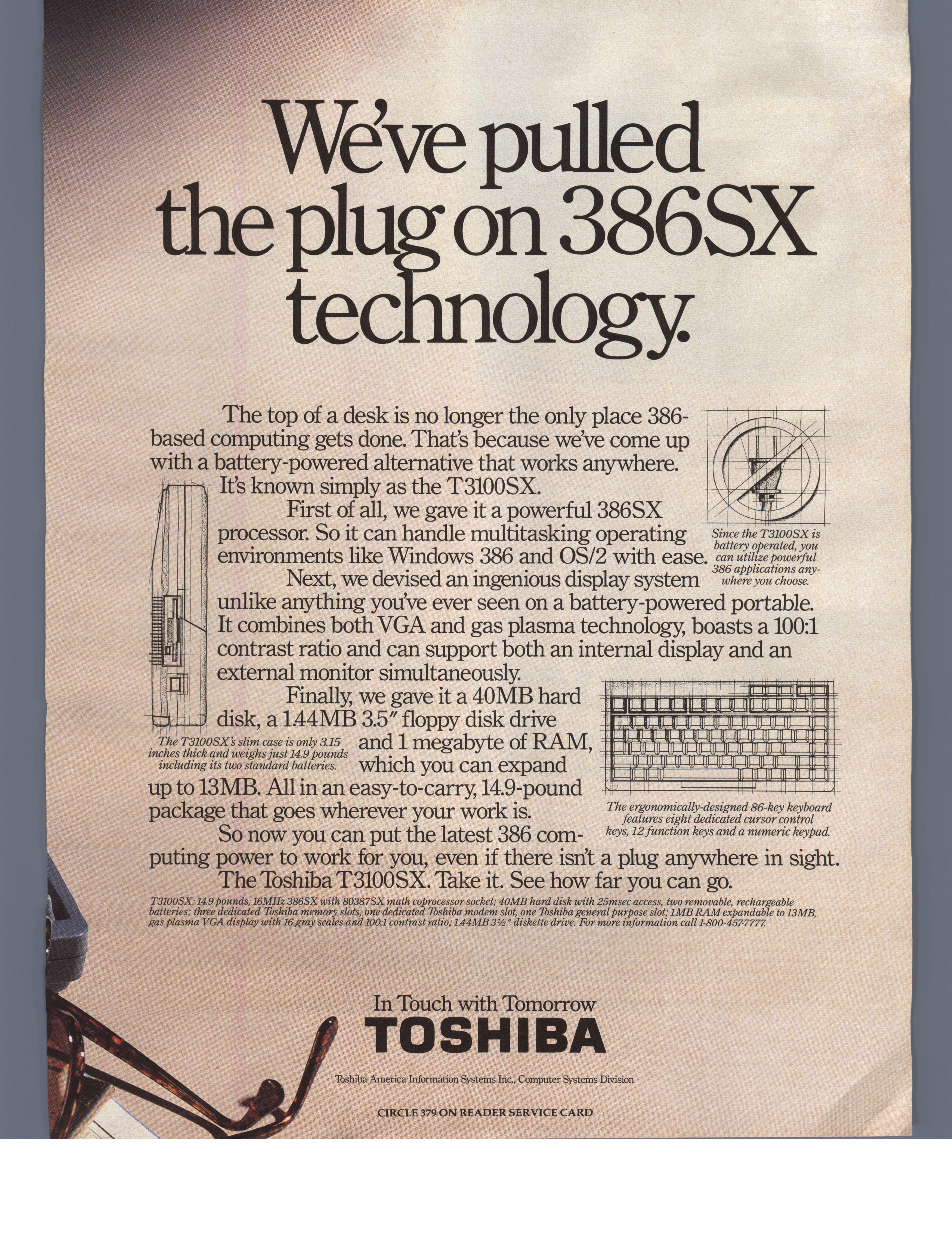 TOSHIBA T3100SX