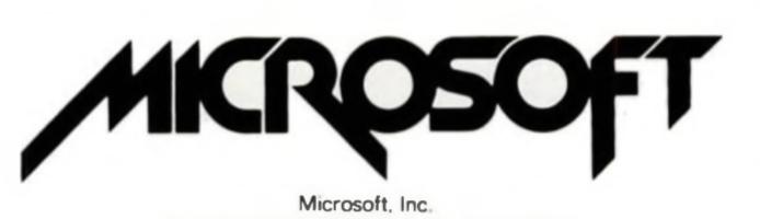 The old Microsoft logo in 1982